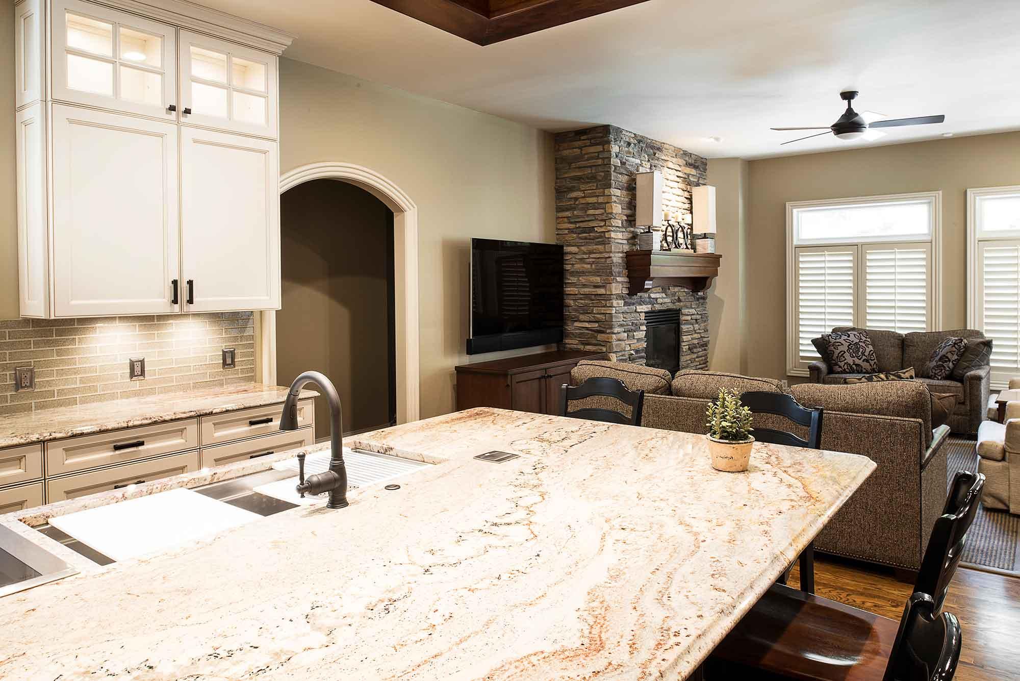 marble and wood | kitchen design tulsa