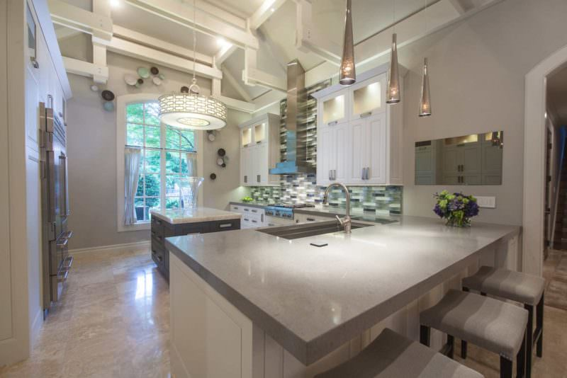Leaves You Jonesin 1 contemporary stylish kitchen