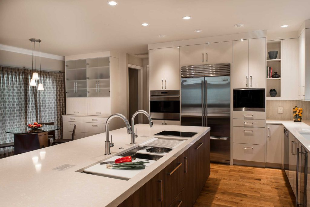 Chrome and Cream 12 beautiful and functional kitchen with Galley Workstation large stainless steel kitchen sink
