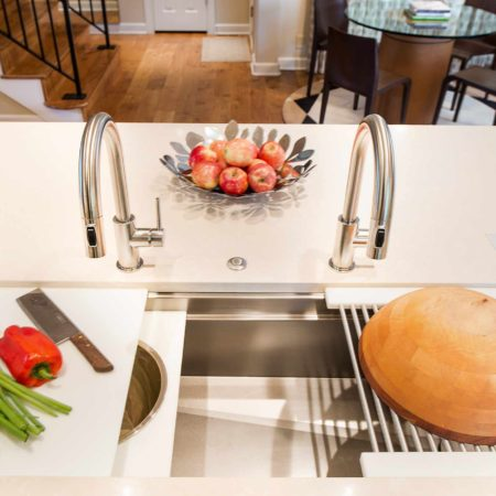 Chrome and Cream 6 beautiful and functional kitchen with Galley Workstation large stainless steel kitchen sink