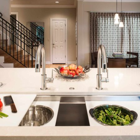 Chrome and Cream 7 beautiful and functional kitchen with Galley Workstation large stainless steel kitchen sink for salad prep