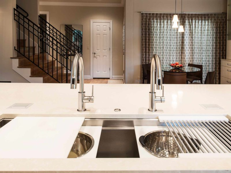 Chrome and Cream 8 beautiful and functional kitchen with Galley Workstation large stainless steel kitchen sink