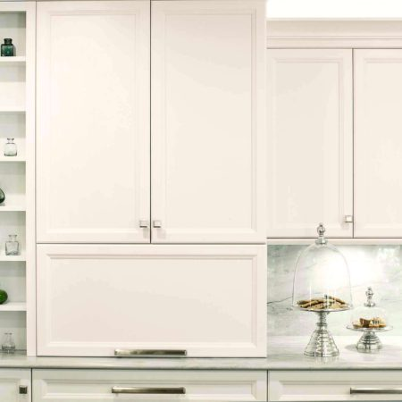 Cook, Eat, Watch 1 beautiful and functional kitchen with shelving and storage