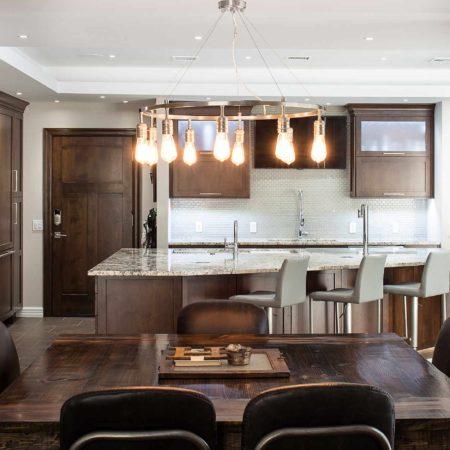 Dark Industrial 12 Handsome and rich open kitchen