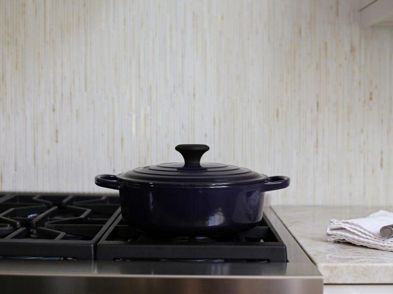 Kitchen design Tulsa kitchen remodel south Tulsa kitchen Wolf stainless professional gas range cooking with decorative tile backsplash