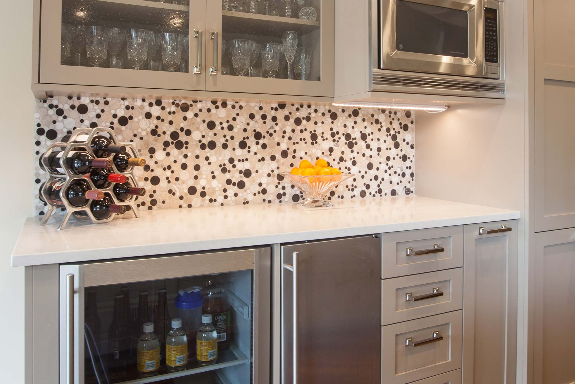Open to Function large kitchen decorative backsplash