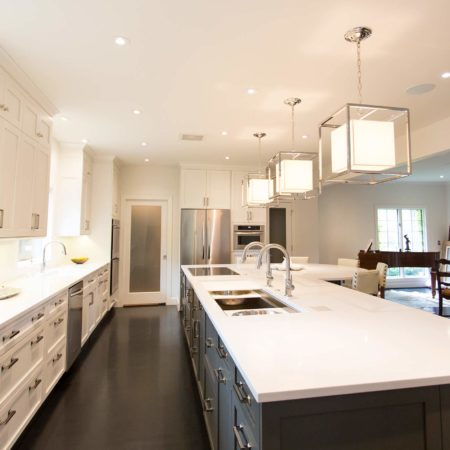 White Done Right 9 elegant open kitchen with refrigerator and oven